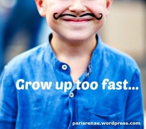child with mustache canva x